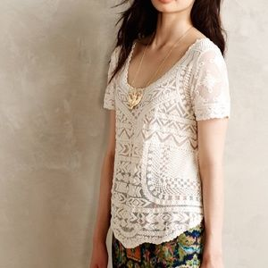 Meadow Rue Lace Embroidered Gracie Top